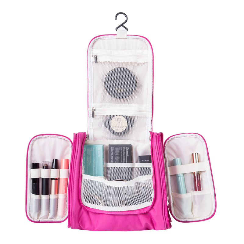 Hanging Travel Cosmetic Bags Functional Makeup Pouch Toiletry Wash Storage Case Organizer Necessary Accessories Supplies lady s travel wash cosmetic bags brushes lipstick makeup case pouch toiletry beauty organizer accessories supplies products