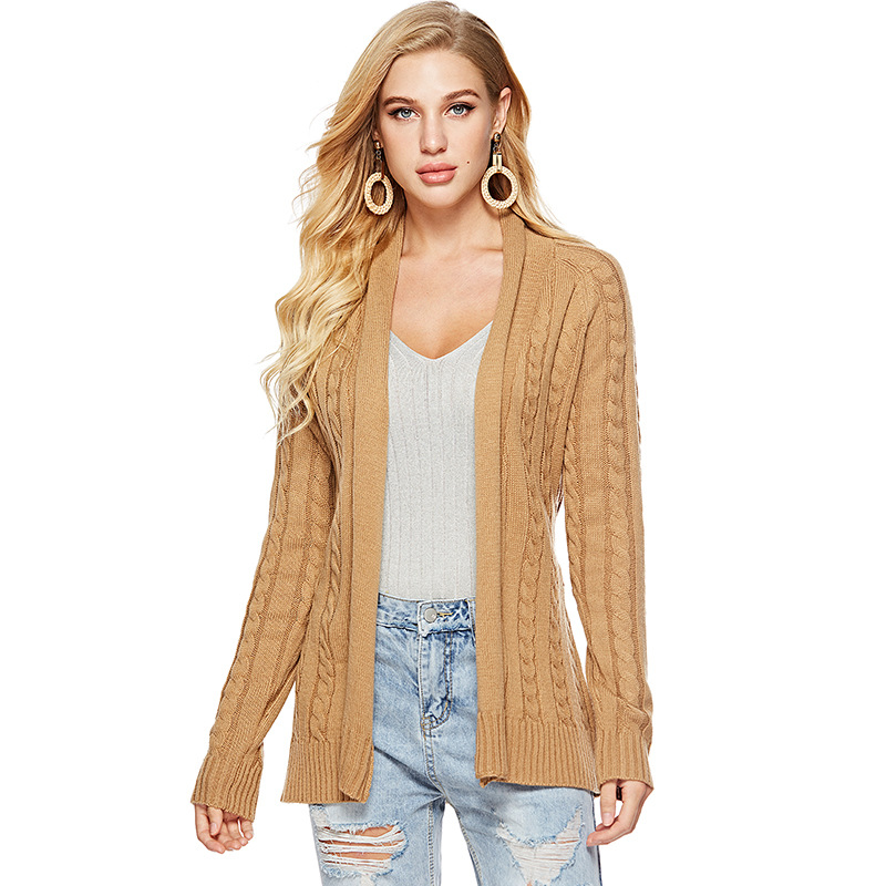 Sweater Sash Cardigan Winter Sweater Women Jumper Cable Knitted Crdigan Female Coat Soft Casual Ssweater Pull Outerwear
