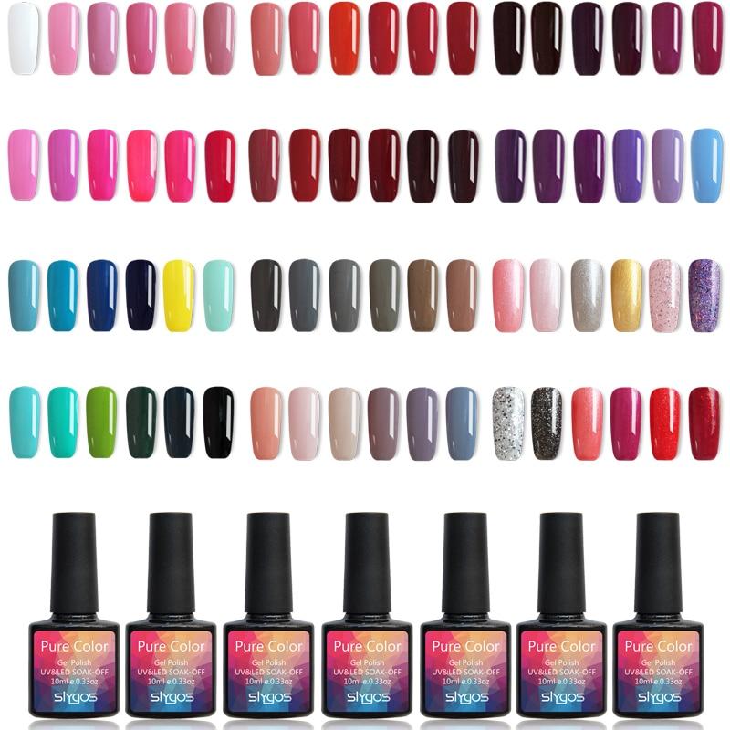 1pcs 10ml SLYGOS Soak Off UV/LED Nail Gel Polish 60 Colors Gel Polish Nail Polish UV Curing Nail Lacquers