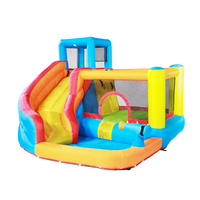 Children's inflatable swimming pool castle indoor small doctoral dolphins slide home large play toy outdoor naughty trampoline