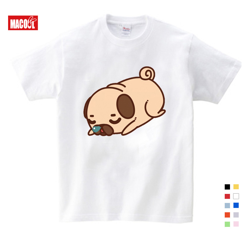 Girls Clothes for Summer T-shirt 3-12 Years O-Neck Short White T Shirt Cartoon Graphic Baby Kids Shirts