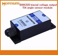 Envío Gratis BWK220 biaxial voltaje inclinómetro salida, Módulo del sensor de ángulo de inclinación/sensor de ángulo
