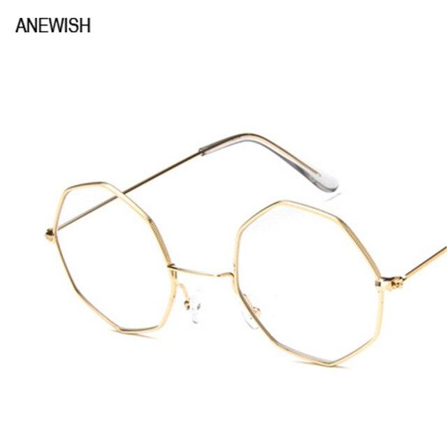 290bfff8b7 Polygon irregular flat mirror retro eyeglasses frames for women art little  fresh men glasses frame female