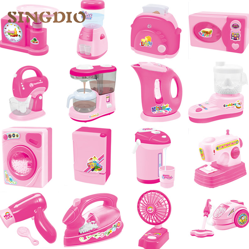 цена на Mini Home Appliances Pretend Play Toys Kids Play House Kitchen Toys Set Educational toys for Children Enlighten 16pcs