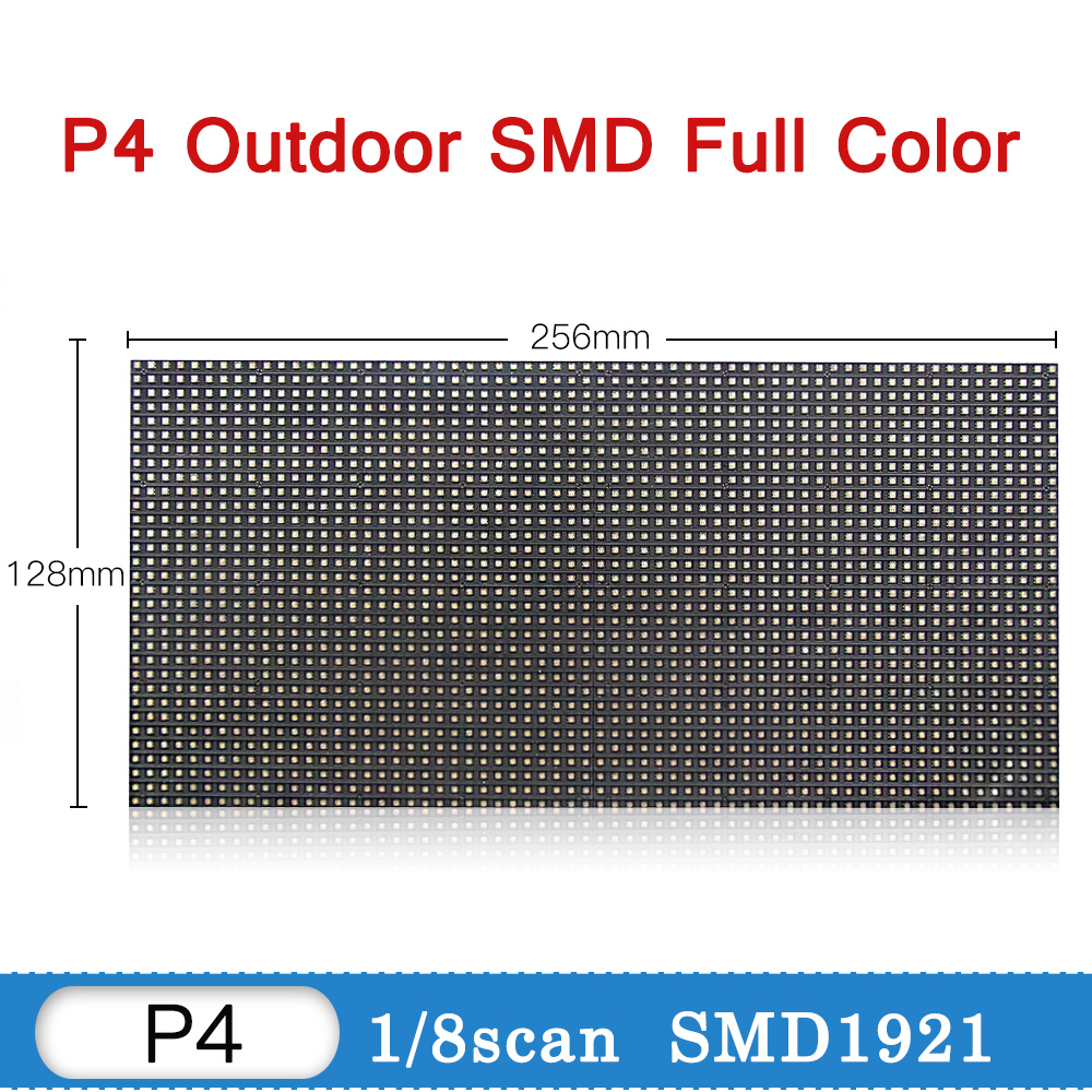 Promotion P4 Outdoor Led Display Module Tv Panel Video Wall P4 P5 P6 P8 P10 Sign Board Led Display Wall Screen RGB Full Color