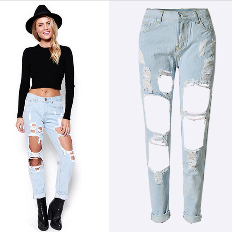 buy 2017 top selling fashion boyfriend street style ladies sexy jeans women. Black Bedroom Furniture Sets. Home Design Ideas