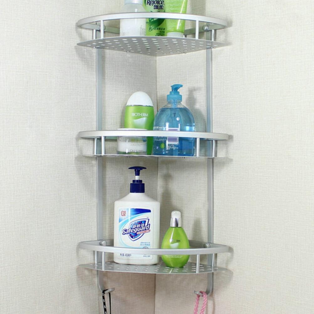 1PCS Three Layer Wall Mounted Bathroom Towel Rack Washing Shower ...