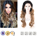 Волнистые натуральных волос парик фронта шнурка выделите ломбер парик шнурка 2016 прически тенденции длинный парик