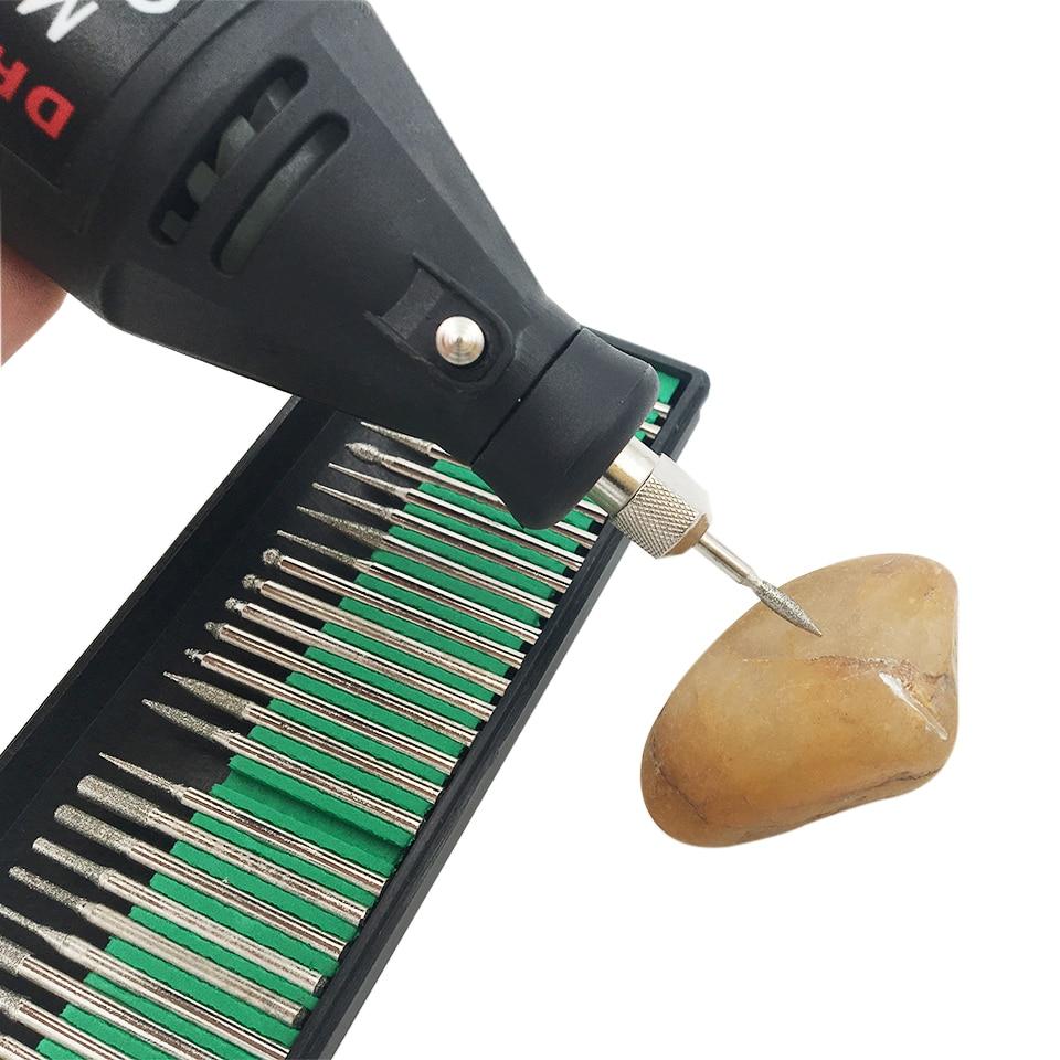 30tk, 2,35 / 3,0mm, teemantvutid - puidukivist pöörlevad - Abrasiivtööriistad - Foto 3