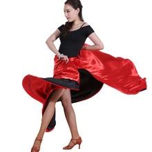 Фламенко юбка 360 градусов испанская танцевальная юбка танец живота круг большая латинская юбка качели открытие танцевальный костюм