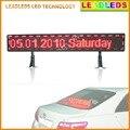 P6 12 v SMD Vermelho Táxi Carro janela traseira entrada USB programável Rolagem Mensagem levou placa de exposição de publicidade