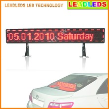 P6 12v Red SMD Taxi Car rear window programmable USB input Scrolling Message led advertising display board