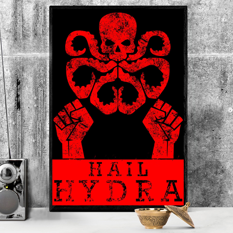 Marvel Comics Hydra <font><b>Logo</b></font> <font><b>Poster</b></font> HD Canvas Paintings For Living Room Decoration Modern Wall Art Oil Painting Home Decor image