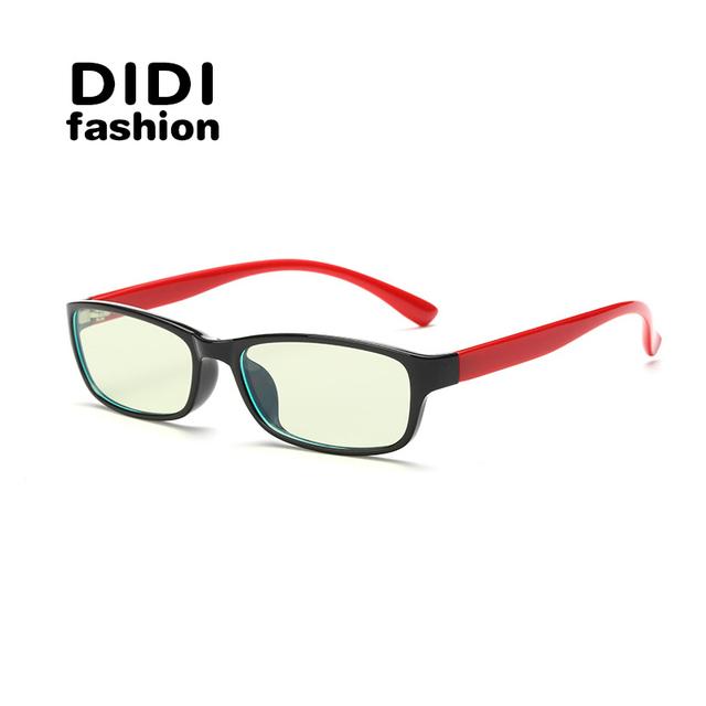 DIDI Anti Blue Rays Titanium Gaming Glasses Women Rectangle Yellow Lens Computer Eyeglass Brand TR90 Optical Frame Eyewear U266