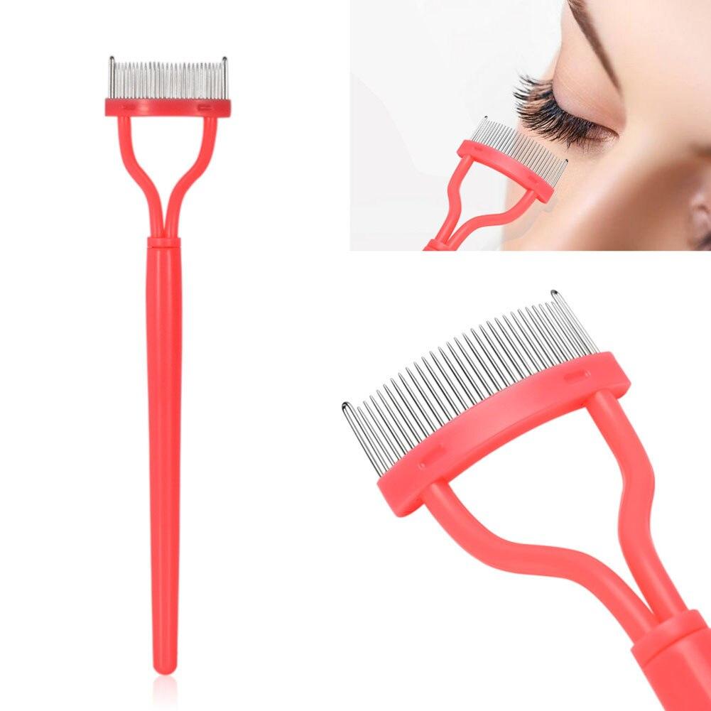 Eyelash Comb Curler Mascara Applicator Arc Designed Makeup Eyebrow Brush Cosmetic Tool 789(China)