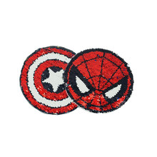 football Reversible Change Sequins Sew On Patches for clothes Kids Boy Girl T Shirt Coat Embroidered Reverse cat Patch Applique(China)