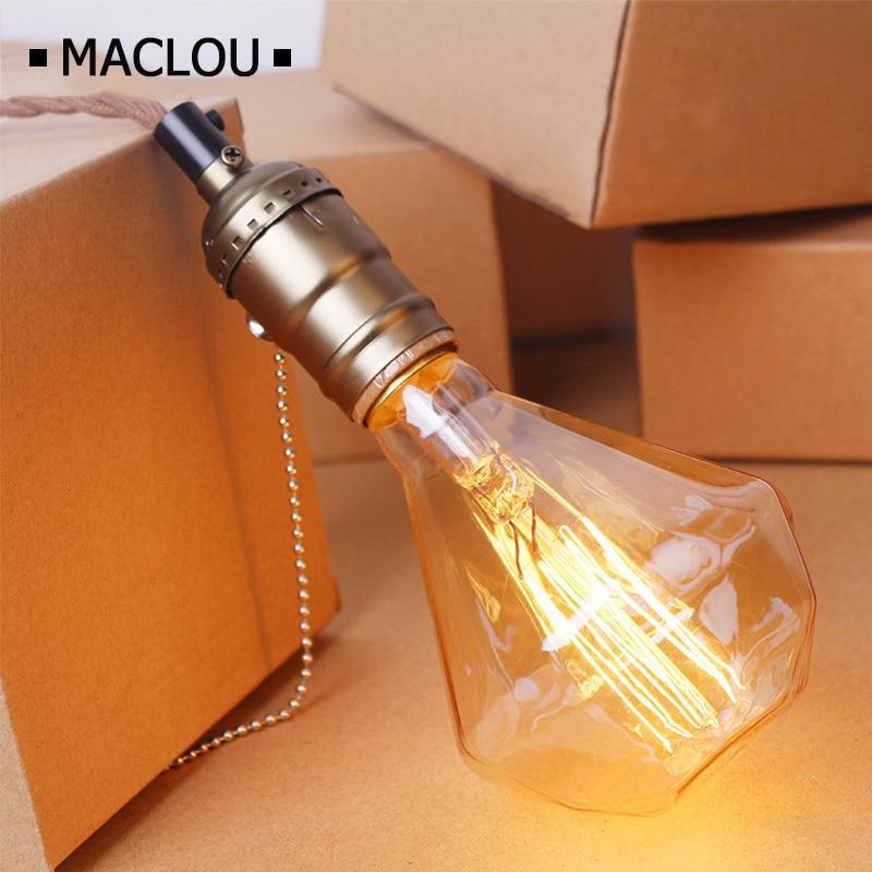 G95 Edison Diamond Ampoule Vintage Light Bulb E27 220V Edison bulb 40W Lampada Pendant Lights Incandescent Bulb Decor Retro Lamp