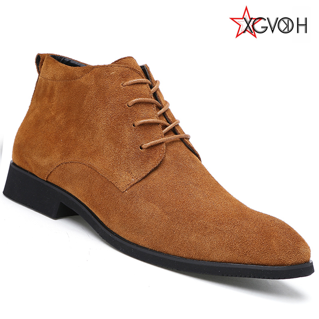 Men Boots Warm Comfortable Quality Fashion Ankle Boot Casual Mens Leather Winter Shoes