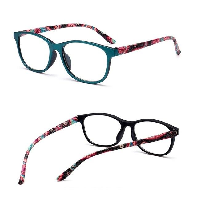 9441fa8950f Reading Glasses Presbyopia Eyeglasses Flower Print Frame Diopter +1.0-+4.0  Dropshipping