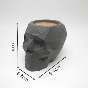 Image 2 - 3D geometry skull candlestick mold concrete silicone mold diy cement plaster mold home decoration tools