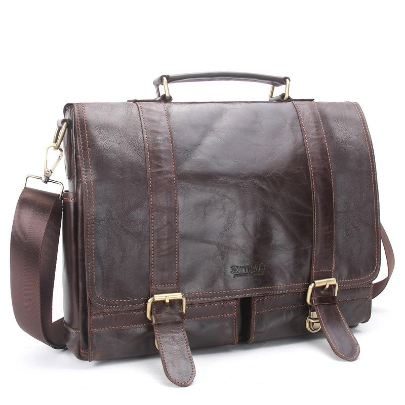 hombre crossbody hombre mensajero vaca bolso CONTACT'S bandolera genuino maletin mensajero bolso de hombre los piel mano cuero maletines genuina bolsos de qZtxa