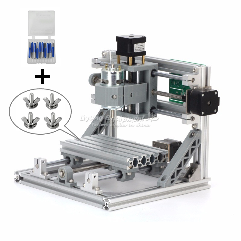 CNC Router 1610 PCB Milling Machine with 500MW Laser Cutter Engraving Machine, Russia free tax mini cnc router with 500mw laser head pcb milling machine work area 240 170 65mm