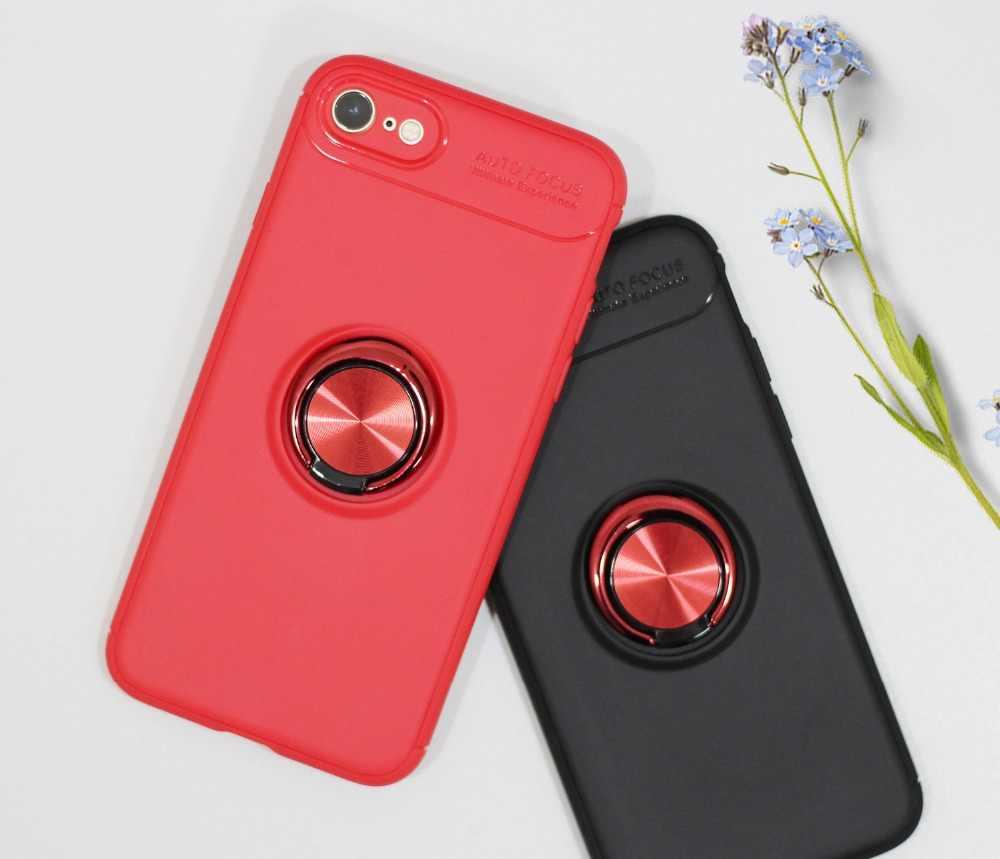 Dla czerwony ryż 4A/4X/5/5A/5S/5 Plus/6/6A komórkowy etui na telefon pełna ochrona miękkiego TPU tylna pokrywa powłoki pierścień uchwyt uchwyt magnetyczny