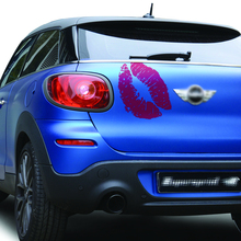 free shipping 1PC kiss sexy lip graphic vinyl car stickers for mini smart door window roof bonnet
