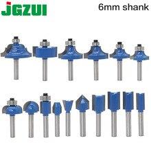 1 ชิ้น 6 มิลลิเมตร Shank wood router bit Straight end mill trimmer ทำความสะอาด flush trim มุมรอบ cove กล่อง bits เครื่องมือตัด