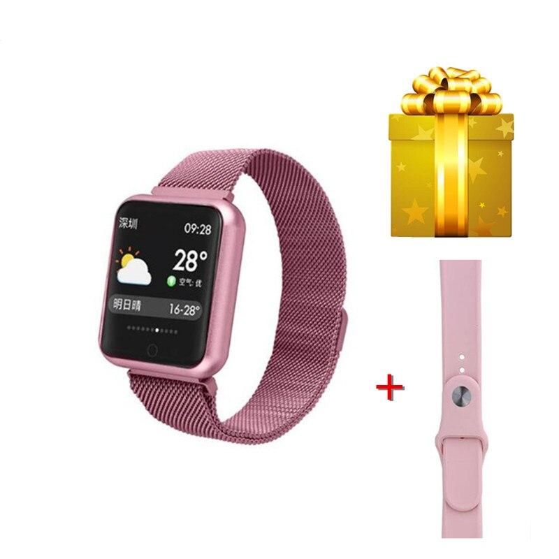P68 smart armband + riem/set smart watch vrouwen reloj smartwatch hombre mode stappenteller armband in Russische IP68 waterdichte band-in Slimme polsbandjes van Consumentenelektronica op  Groep 1