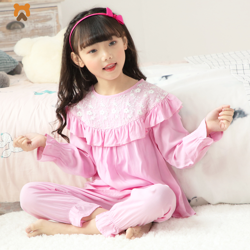 Summer Girls Pajamas Clothing Sets Cartoon Character Baby Girl Pajamas Tops Pants Nightwear Sleepwear For Girls Kids Children 2018 kids pajamas sets baby girl and boys clothes teenage girls pajamas suits long sleeve tops and pants 2 pieces clothing sets