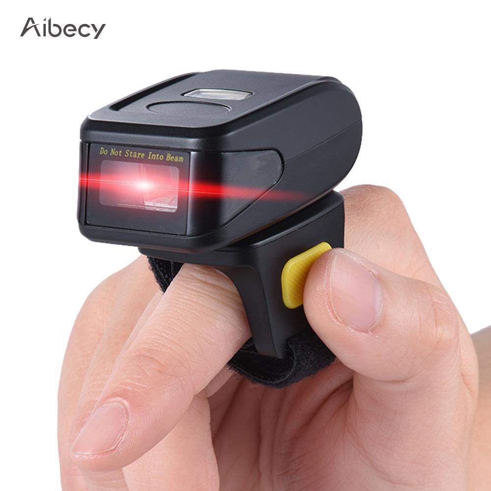 buy portable barcode scanner handheld wireless ring finger 1d bar code scanner. Black Bedroom Furniture Sets. Home Design Ideas