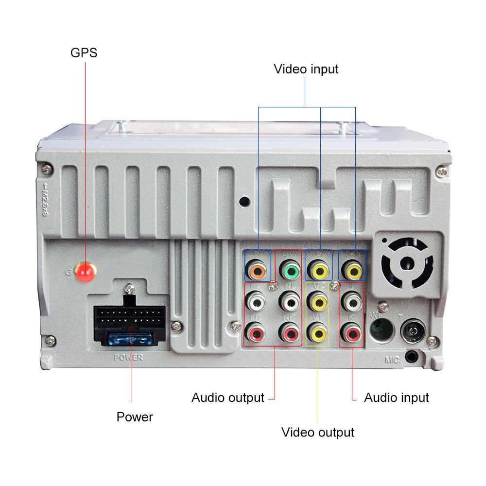 AOSHIKE 6080 araba DVD OYNATICI MP5 GPS TFT araba multimedya oynatıcı 7 ''HD Bluetooth handsfree makinesi park ekran MP4 FM