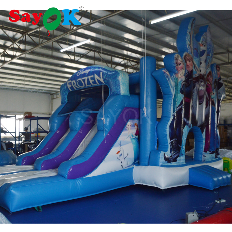 Inflatable Bouncy Castle Inflatable Frozen Slide 6x4x4.35m Commercial Inflatable Kids Slide Inflatable Bouncer Slide Trampoline free delivery inflatable castle inflatable slide inflatable bouncer inflatable games outdoor color small slide hx895