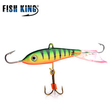 FISH KING 1PC 12G 15G 30G 3D Eyes 9 Color Winter Ice Fishing Lure Hard Bait Artifical  Fishing Tackle Shop Peche Pesca
