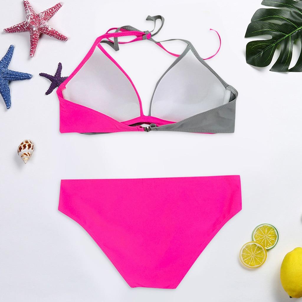 HTB1uBANV4jaK1RjSZFAq6zdLFXaq 7 Colors Womens Padded Push-up Bra Tankini Bikini Set 2019 Swimsuit Low Waist Bathing Suit Swimwear Two Pieces Halter Beachwear