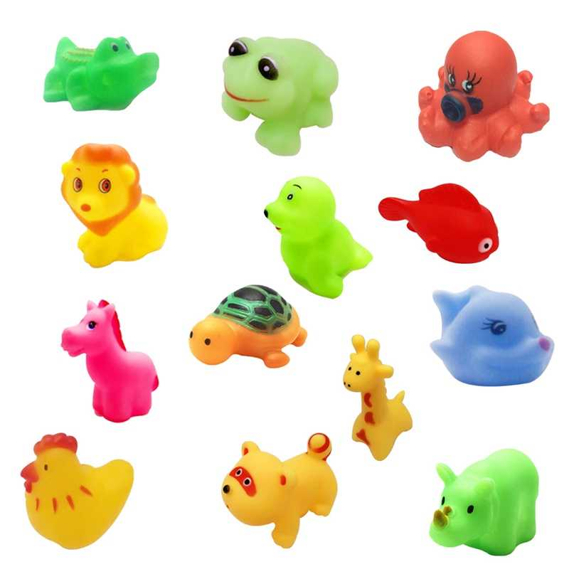 1 قطعة الطفل حمام لعب الأطفال رذاذ الماء الحيوان لينة دمية مطاطية الدب الضفدع الزرافة للأولاد الفتيات هدية