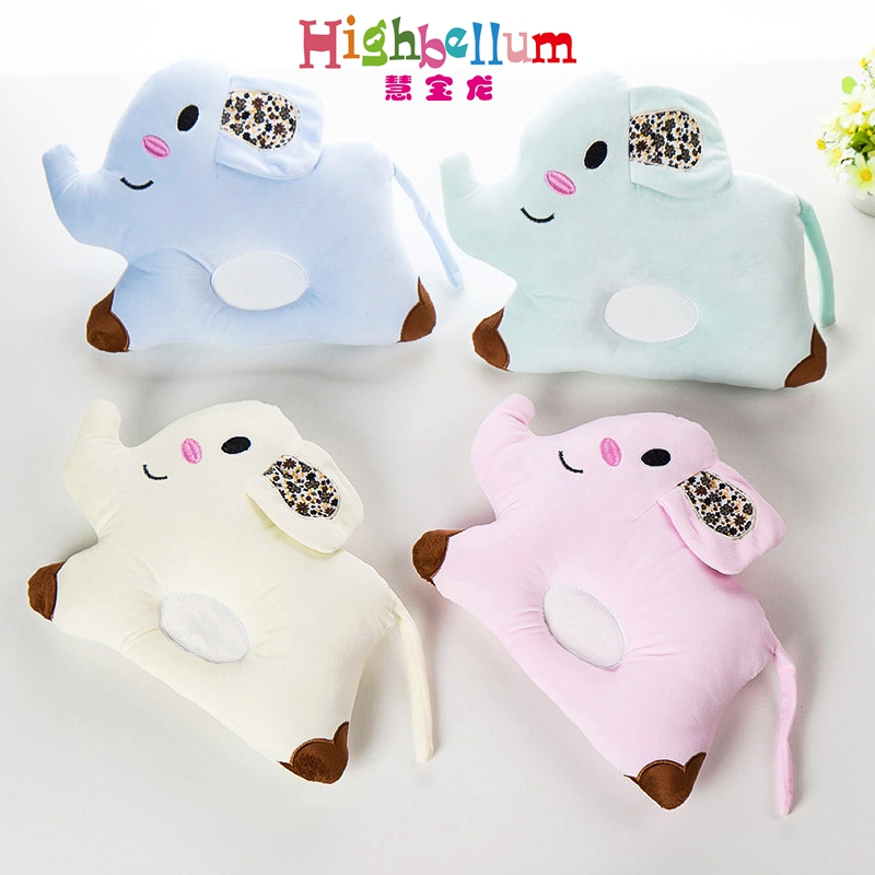 Newborn Baby Pillow Elephant Cartoon Head Shape Pillow Soft Positioner For Infant Flat Head Pillow Baby Support Cushion Softy african elephant