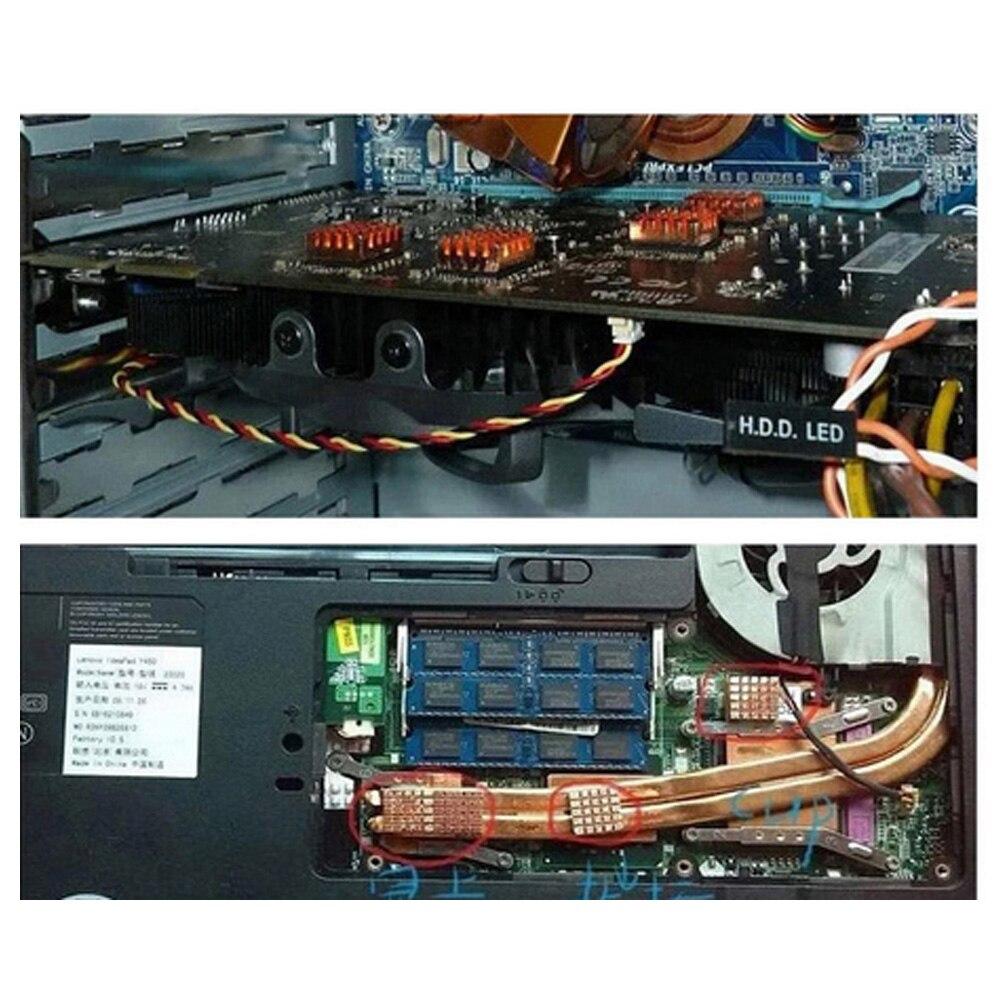 8 Stücke Mainboard Laptop Reinem Kupfer Lüfter Leitfähigen Klebstoff Thermische Ddr Grafikkarte Speicher Teile Computer Kühlkörper