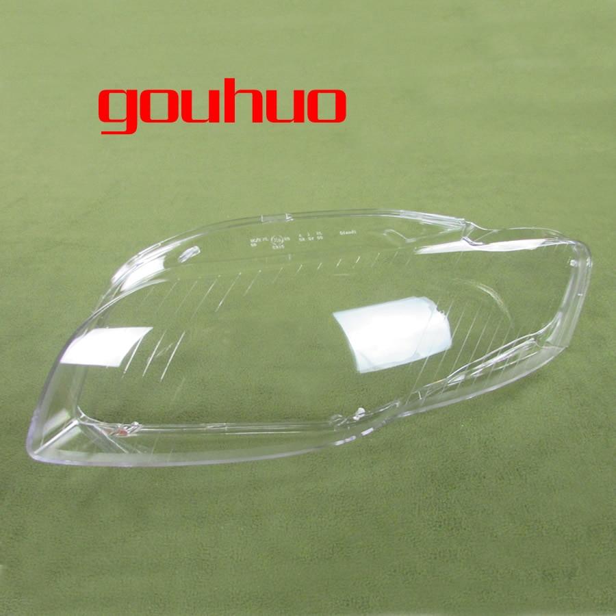 For Audi A4 B7 06 08 Lamp Shade Lamp Headlight Mask Headlights Shell Lampshade Cover 2pcs