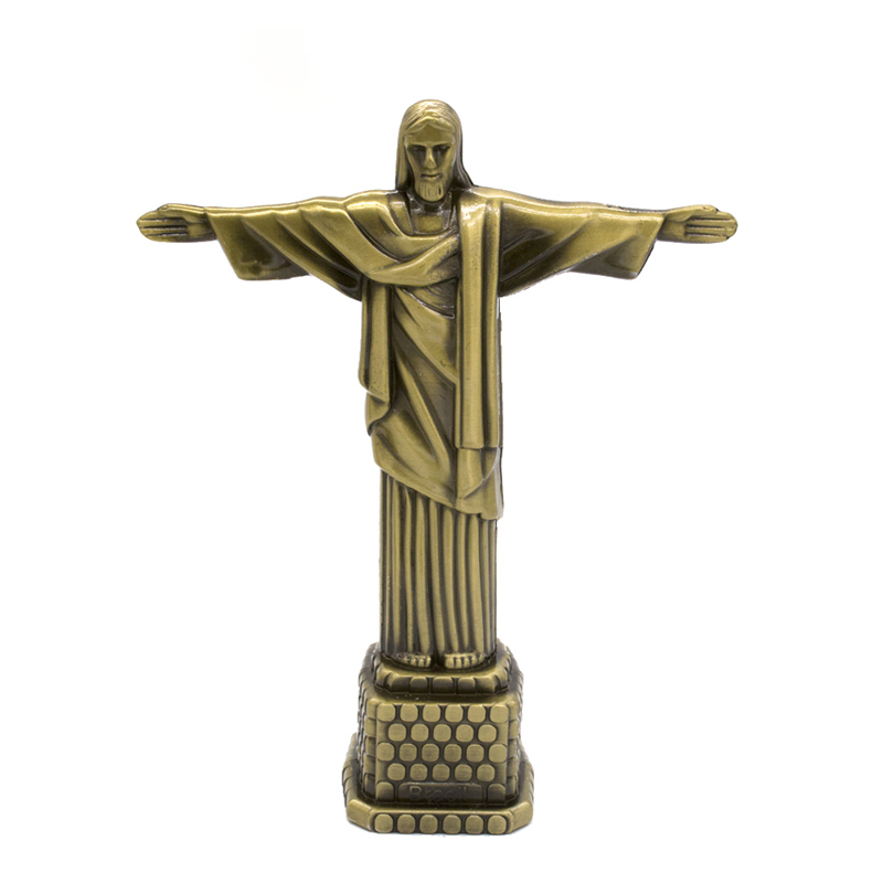 Brazil:  1pcs 18cm Metal Brazil Crist Redentor Jesus Figurine Christ the Redeemer Statue Jesus Christ Statue Catholic Gift Home Decor - Martin's & Co
