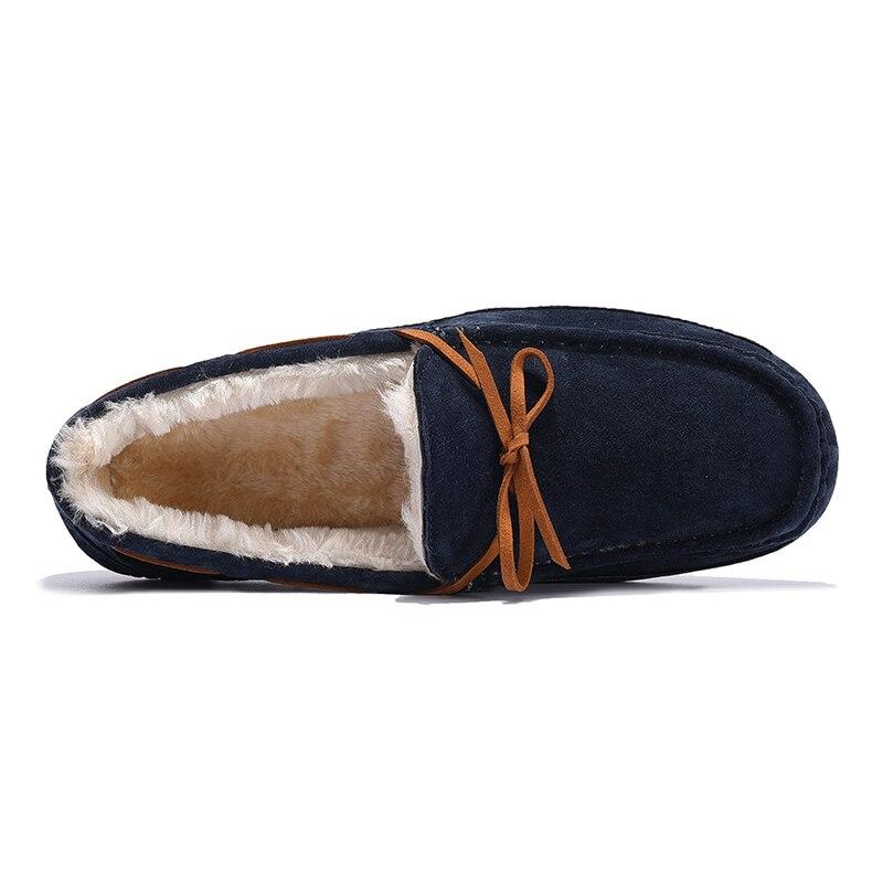 Peluche Porc En De Hommes Au Cuir 2017 Bleu Hiver Chaud marron Mocassins Mode Garder Casual Suède kaki Appartements Conduite Chaussures wYwAvXq