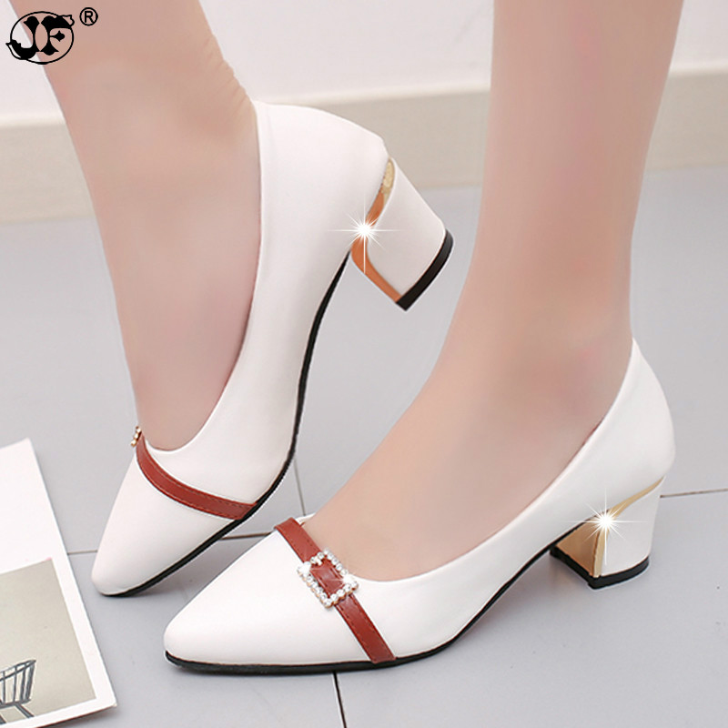 42139f79d164a summer Office shoes WomenPumpshigh heels Party Simple Pointed Shallow high  heels Woman Office shoeswomen 236