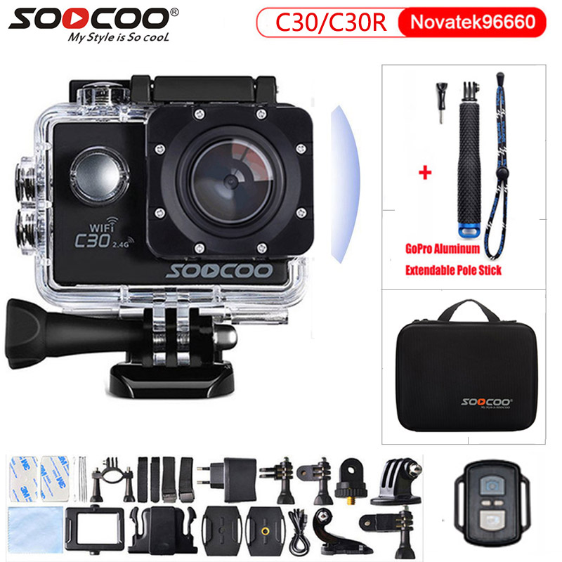 Action camera Original SOOCOO C30 C30R Remote Ultra FHD 4K WiFi 1080P 2.0 LCD 170D Sport Go Waterproof Pro camera deportiva symrun n5 action camera deportiva original novatek 96660 remote ultra hd 2k wifi 1080p 60fps sport go waterproof pro camera
