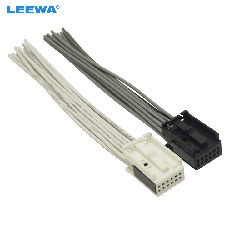 LEEWA Car Radio AUX Wire Harness Adapter White/Black Full 12 Pin Connector  For Ford/BMW/VW/Peugeot/Opel Radio Stereo#5686|Cables, Adapters & Sockets|  - AliExpressAliExpress