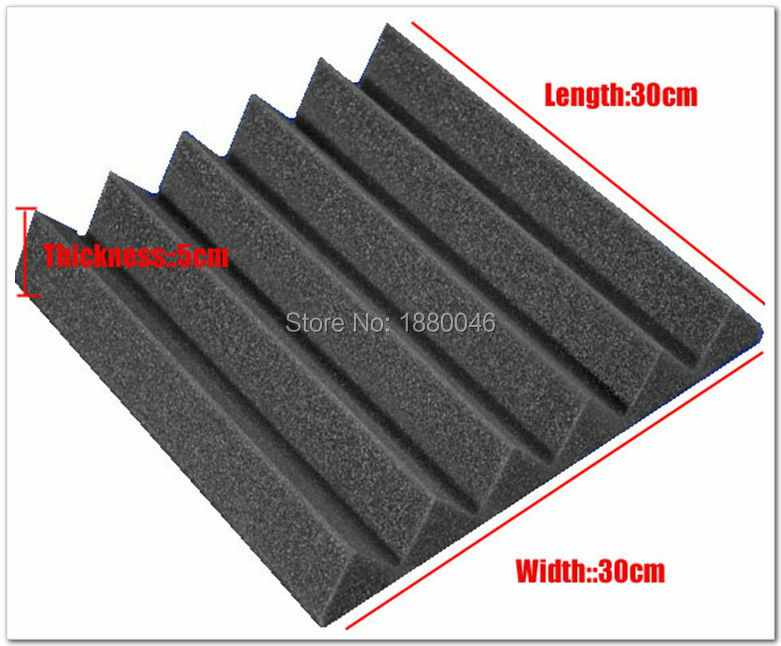 Free shipping New 48pieces black color 30*30*5cm Acoustic Wedge - Home Decor - Photo 2