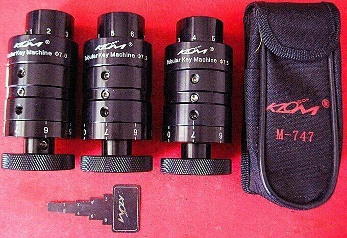 Original Best Tubular Key Cutting Machine Keys Copy Duplicator Locksmith Tools South Korea KLOM Portable Plum Key Copier