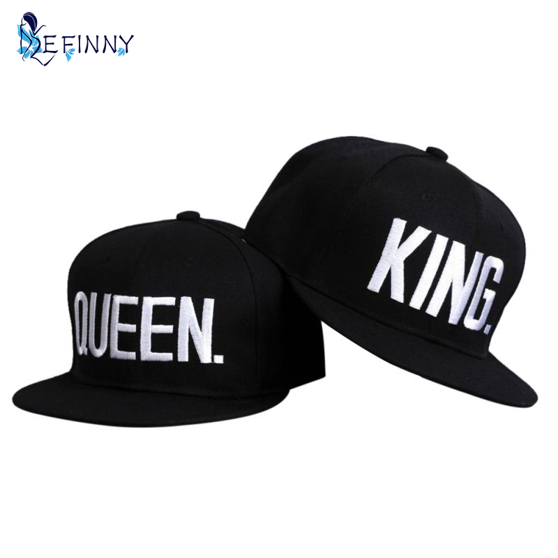 Couple Summer Baseball Cap KING QUEEN Letters Embroidery Snapback Hat Acrylic Men Women Gifts Hip-hop Caps Hip Hop Mujer boapt unisex letter embroidery cotton women hat snapback caps men casual hip hop hats summer retro brand baseball cap female