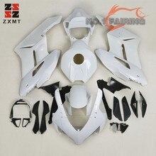 ZXMT Unpainted White Fairing Kit Fit for Honda CBR1000RR 2004 2005 ABS Plastic Injection Bodywork Tank Cover