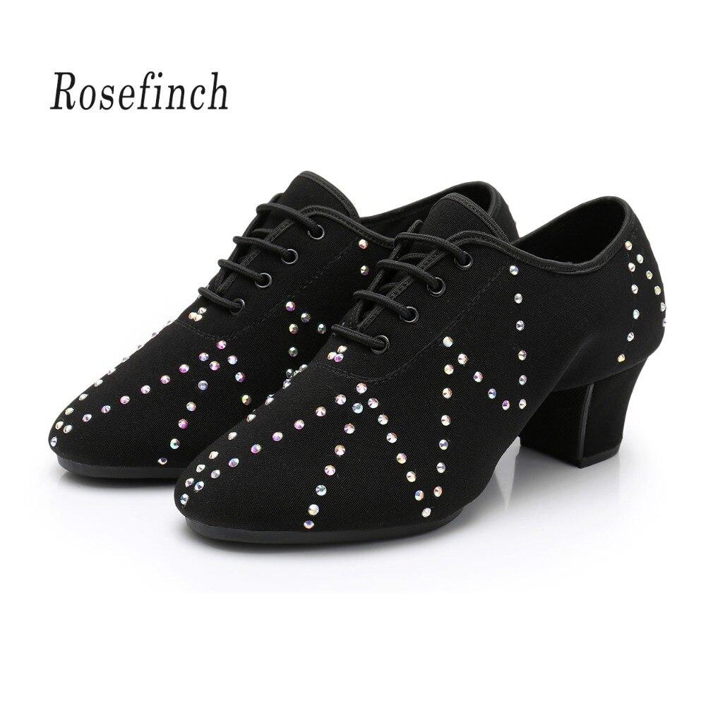 Men Women Shoes Latin Dance Shoes Adult Two Point Soles Teacher Shoes Soft Jazz Dance Shoes Male Oxford Cloth Heel 3/5cm A180